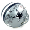 Troy Aikman, Emmitt Smith & Michael Irvin Autographed/Signed Dallas Cowboys Riddell Full Size NFL Helmet with Super Bowl Inscriptions-13277
