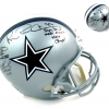 Troy Aikman, Emmitt Smith & Michael Irvin Autographed/Signed Dallas Cowboys Riddell Full Size NFL Helmet with Super Bowl Inscriptions-0