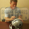 Troy Aikman, Emmitt Smith & Michael Irvin Autographed/Signed Dallas Cowboys Riddell Full Size NFL Helmet with Super Bowl Inscriptions-13279