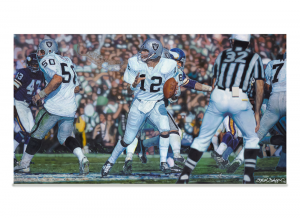 "Steve Skipper Collection - ""Undeniable"" - Ken Stabler Oakland Raiders Commemorative Artist Proof Lithograph-0"