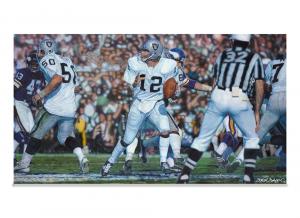 "Steve Skipper Collection - ""Undeniable"" - Ken Stabler Oakland Raiders Commemorative Artist Edition Canvas-0"