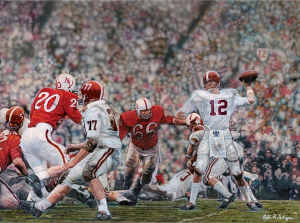 "Steve Skipper Collection - ""Unforgettable"" - Ken Stabler Alabama Crimson Tide Commemorative Artist Proof LE Lithograph-0"