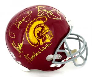USC Trojans Heisman Winners Signed Full Size Helmet-0