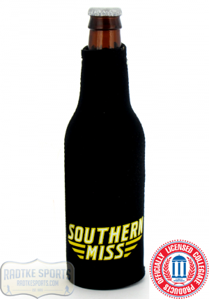 USM Golden Eagles Officially Licensed 12oz Neoprene Bottle Koozie - Southern Miss-0