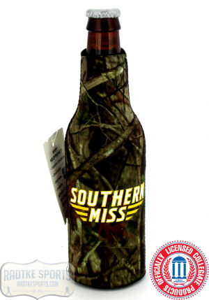 USM Golden Eagles Officially Licensed 12oz Neoprene Bottle Huggie - Southern Miss - Camo-0