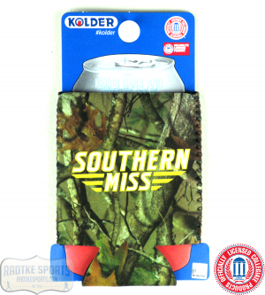 USM Golden Eagles Officially Licensed 12oz Neoprene Can Huggie - Southern Miss - Camo-0