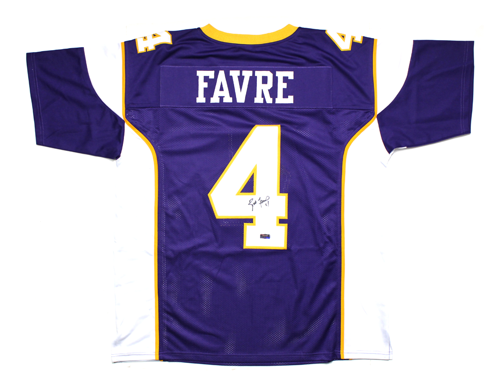 watch efe4a 279a1 Brett Favre Signed Minnesota Vikings Purple Custom Jersey