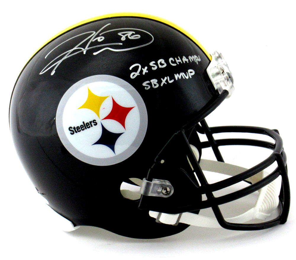 e795ae38063 Hines Ward Signed Pittsburgh Steelers Riddell Full Size NFL Helmet with Super  Bowl MVP   Champs