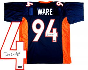 Demarcus Ware Signed Denver Broncos Blue Custom Jersey-0