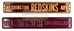 Washington Redskins Avenue Officially Licensed Authentic Steel 36x6 Burgundy & Gold NFL Street Sign-0