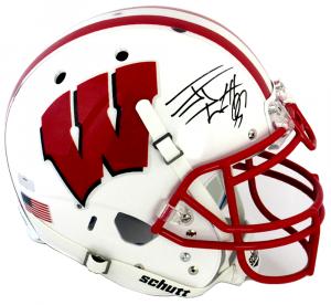 J.J. Watt Signed Wisconsin Badgers Schutt XP Authentic NCAA Helmet-0
