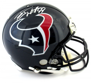 J.J. Watt Signed Houston Texans Riddell Authentic NFL Helmet-0