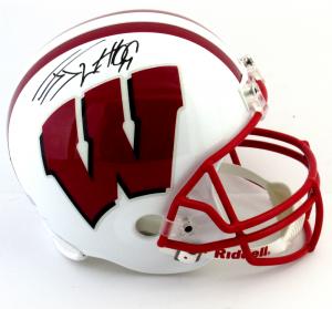J.J. Watt Signed Wisconsin Riddell Schutt Full Size NCAA Helmet-0