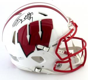 J.J. Watt Signed Wisconsin Badgers Riddell Authentic Revolution Speed NCAA Helmet-0
