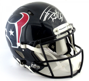 J.J. Watt Signed Houston Texans Riddell Authentic Revolution Speed NFL Helmet-0