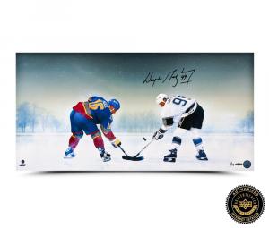 "Wayne Gretzky Signed ""Frozen Pond"" 30x15 Photo-0"