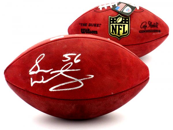Sean Weatherspoon Signed Atlanta Falcons Wilson Authentic NFL Football-0