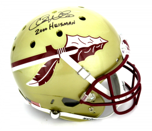 "Chris Weinke Signed FSU Seminoles Full Size Helmet with ""Heisman 2000"" Inscription-0"