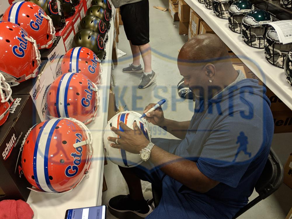 2a3f49f860f Emmitt Smith Signed Florida Gators Full Size Schutt Throwback Speed  Helmet-30390 ...