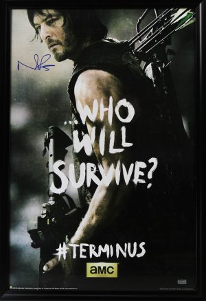 "Norman Reedus Signed The Walking Dead Terminus ""Who Will Survive"" Full Size Framed Poster-0"