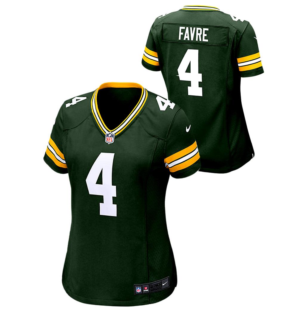 best loved 7054c 19040 Brett Favre Green Bay Packers Nike Game Day Jersey - Womens