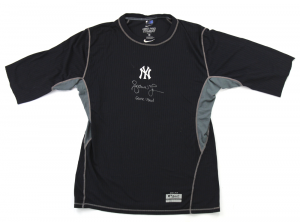Andruw Jones Signed New York Yankees Nike Dri-Fit Game Used Shirt - XL-0