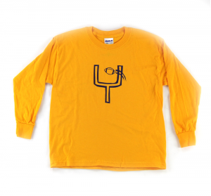 Official Favre 4 Hope Yellow Youth Longsleeve Shirt With Goal Post-0